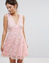 Amy Lynn Occasion 3D Floral Lace Dress Pink