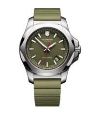 Victorinox Inox Stainless Steel Watch Green