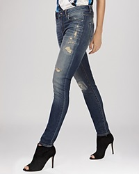 Karen Millen Jeans Ripped And Frayed Skinny In Denim