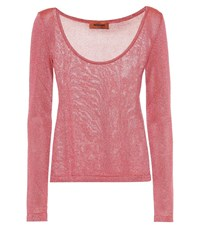 Missoni Metallic Knitted Top Red