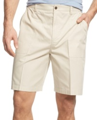 Geoffrey Beene Big And Tall Ripstop Shorts Stone