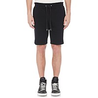 Helmut Lang Men's Drawstring Waist Shorts Black Blue Black Blue