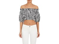 Dolce And Gabbana Women's Striped Voile Crop Top No Color