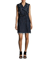 Hidden Jeans The Rebel Double Breasted Shirtdress Rinse Wash