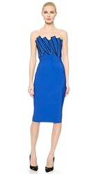 Thierry Mugler Strapless Dress Electric Blue