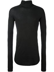 Balmain Ribbed Turtle Neck Jumper Grey
