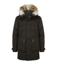Nobis The Yatesy Fur Trimmed Parka Coat Male Black