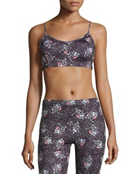 Live The Process Printed Corset Bustier Sports Bra Liberty Floral Dk