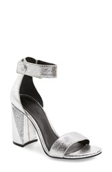 Kendall Kylie Jewel Sandal Silver Leather