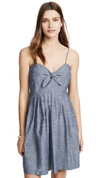 Madewell Tie Front Cami Dress Brilliant Royal