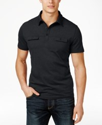 Alfani Men's Two Pocket Polo Only At Macy's Hyper Blue Combo