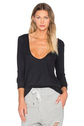 Nytt Low Cut Long Sleeve Top Black