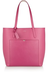 Smythson North South Textured Leather Tote
