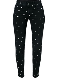 Stella Mccartney Polka Dot Skinny Ankle Glazer Jeans Black