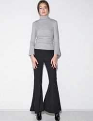 Pixie Market Black Bell Bottom Pants