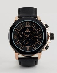 Asos Oversized Watch With Octagon Face Brown
