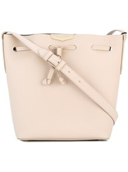 Twin Set Drawstring Crossbody Bag Nude Neutrals