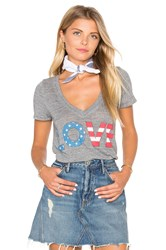 Chaser American Love Tee Gray
