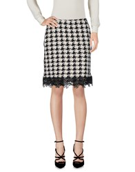 La Fabbrica Del Lino Knee Length Skirts Black