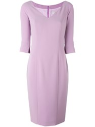 Alberto Biani Fitted Dress Pink Purple