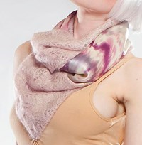 Norma Ishak Amore Double Sided Scarf Light Pink
