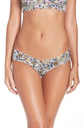 Hanky Panky Women's Print Low Rise Thong Green