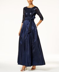 Jessica Howard Sequined Taffeta Ball Gown Navy