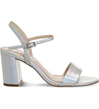 Office Millionaire Metallic Sandals Silver Iridescent