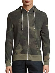Alternative Apparel Camo Print Cotton Blend Hoodie