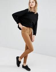 Dr. Denim Dr Lexy High Waist Skinny Trousers Toffee Brown