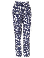 Phase Eight Kayleigh Printed Trousers Navy Ivory