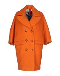 Femme By Michele Rossi Coats And Jackets Coats Orange