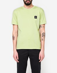 Stone Island Patch Logo T Shirt In Pistacchio