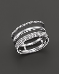 Bloomingdale's Diamond Triple Row Band Ring In 14K White Gold .30 Ct. T.W.