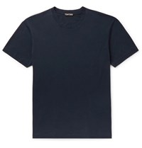 Tom Ford Lyocell And Cotton Blend Jersey T Shirt Blue