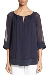 St. John Women's Collection Silk Georgette Blouse