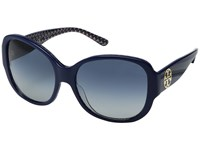 Tory Burch 0Ty7108 56Mm Navy Blue Zigzag Blue Gradient Fashion Sunglasses