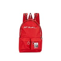 Off White C O Virgil Abloh Monalisa Canvas Backpack Red