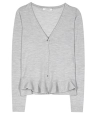 Dorothee Schumacher Galactic Romance Virgin Wool Cardigan Grey