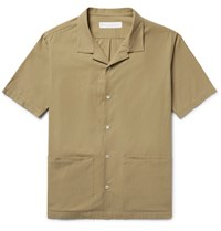 Private White V.C. Camp Collar Cotton Shirt Sand