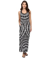 Trina Turk Algiers Long Dress Cover Up Black Women's Swimwear