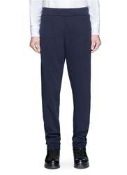 Maison Martin Margiela Cotton French Terry Sweatpants Blue
