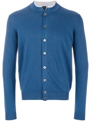 Dell'oglio Button Fastening Cardigan Cotton Blue