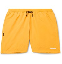 Neighborhood Cotton Blend Faille Drawstring Shorts Yellow