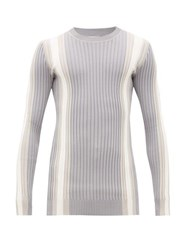Eytys Incubus Striped Ribbed Sweater Grey White