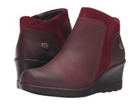 Keen Wedge Zip Red Dahlia Rather Do Black Women's Wedge Shoes Brown