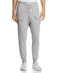Michael Bastian French Terry Cargo Jogger Sweatpants Heather Gray