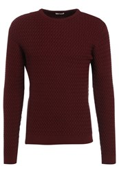 Knowledge Cotton Apparel Jumper Tawny Red Dark Red