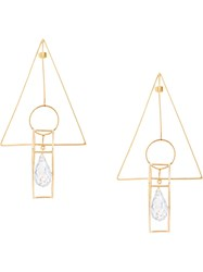 Mercedes Salazar Geometric Earrings Gold