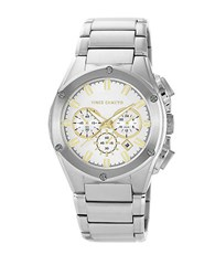 Vince Camuto Mens Stainless Steel Bracelet Watch With Goldtone Accents Two Tone